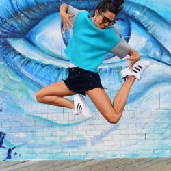 high jump murals healthy happy adidas nycpretty fitness workout